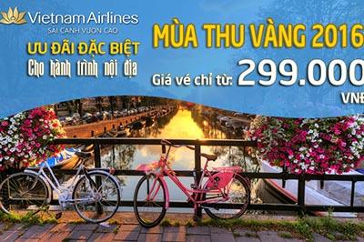 """""""Mùa thu vàng"""" 2016: Chương trình khuyến mại đặc biệt từ Vietnam Airlines"""