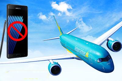 SamSung Galaxy Note 7 chính thức bị cấm sử dụng  trên các chuyến bay