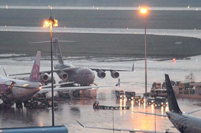 Thời tiết xấu, lịch bay của các hãng hàng không bị ảnh hưởng