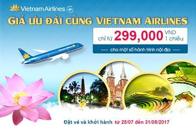 Chào hè 2017! Vietnam Airlines khuyến mại giá vé chỉ từ 299k