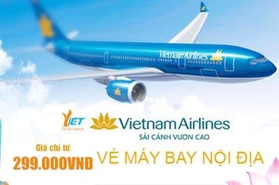 """Du lịch """"cực tiết kiệm"""" với giá vé nội địa ưu đãi của Vietnam Airline tháng 10,11,12"""