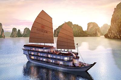 Du thuyền Heritage Line Ginger Cruise trên vịnh Hạ Long | 2 ngày 1 đêm